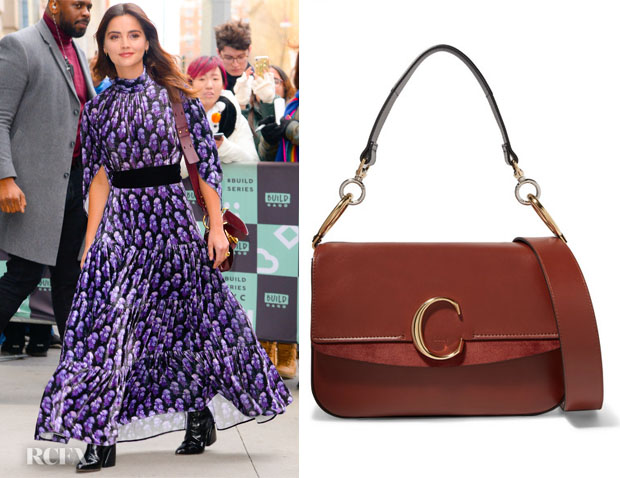 Fashion Blogger Catherine Kallon features Jenna Coleman's  Chloe C bag