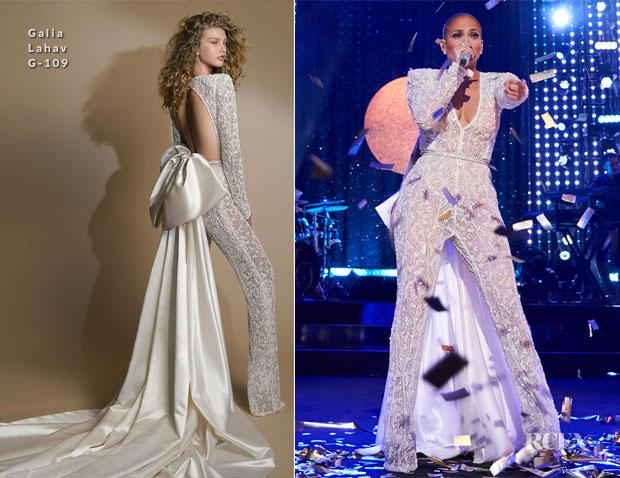 Fashion Blogger Catherine Kallon features Jennifer Lopez In Galia Lahav - NBC's New Year's Eve Season 2018
