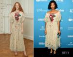 Fashion Blogger Catherine Kallon features Jessica Williams In Alena Akhmadullina - 'Corporate Animals' Sundance Film Festival Premiere