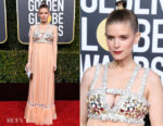 Fashion Blogger Catherine Kallon features Kate Mara In Miu Miu - 2019 Golden Globe Awards