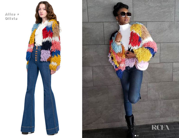 Fashion Blogger Catherine Kallon features Kiki Layne In Alice + Olivia - Out In Utah