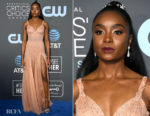 Fashion Blogger Catherine Kallon features Kiki Layne In Atelier Versace - 2019 Critics' Choice Awards