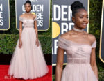 Fashion Blogger Catherine Kallon featuers Kiki Layne In Christian Dior Haute Couture - 2019 Golden Globe Awards