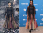 Fashion Blogger Catherine Kallon features Kiki Layne In Christian Dior - 'Native Sun' Sundance Film Festival Premiere