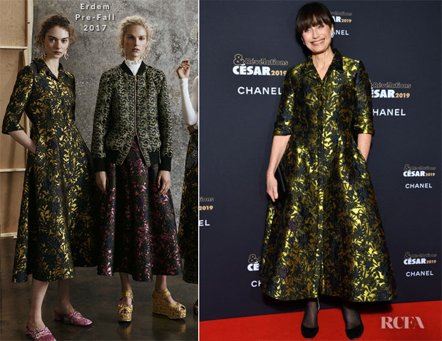 Fashion Blogger Catherine Kallon features Kristin Scott Thomas In Erdem - César Revelations 2019