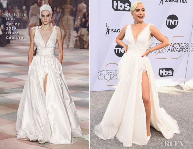 Fashion Blogger Catherine Kallon features Aja Lady Gaga In Christian Dior Haute Couture - 2019 SAG Awards