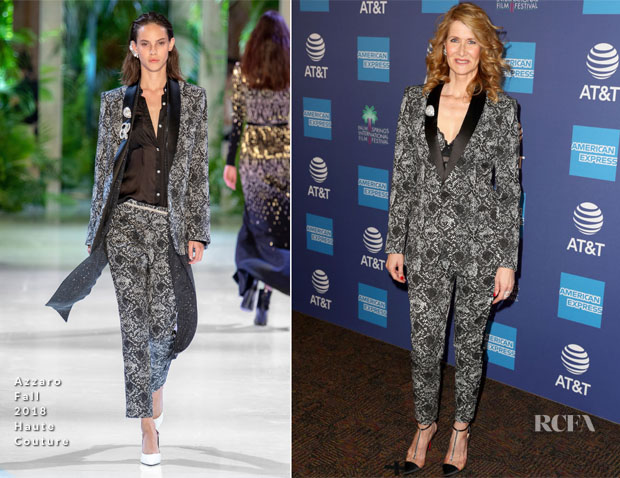 Fashion Blogger Catherine Kallon features Laura Dern In Azzaro Haute Couture - 2019 Palm Springs International Film Festival Gala