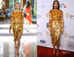 Fashion Blogger Catherine Kallon features Laura Harrier In Altuzarra - BAFTA Los Angeles Tea Party