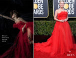 Fashion Blogger Catherine Kallon features Lili Reinhart In Khyeli Couture - 2019 Golden Globe Awards