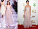 Fashion Blogger Catherine Kallon features Linda Cardellini In Georges Chakra Couture - 2019 Producers Guild Awards