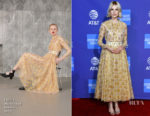 Fashion Blogger Catherine Kallon features Lucy Boynton In Emilia Wickstead - 2019 Palm Springs International Film Festival Gala