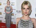Fashion Blogger Catherine Kallon features Lucy Boynton In Prada - 2nd Annual Los Angeles Online Film Critics Society Award Ceremony