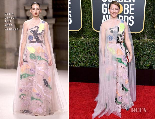 Fashion Blogger Catherine Kallon Features Lucy Liu In Galia Lahav Couture - 2019 Golden Globe Awards