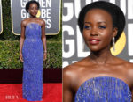 Fashion Blogger Catherine Kallon features Lupita Nyong'o In Calvin Klein - 2019 Golden Globe Awards