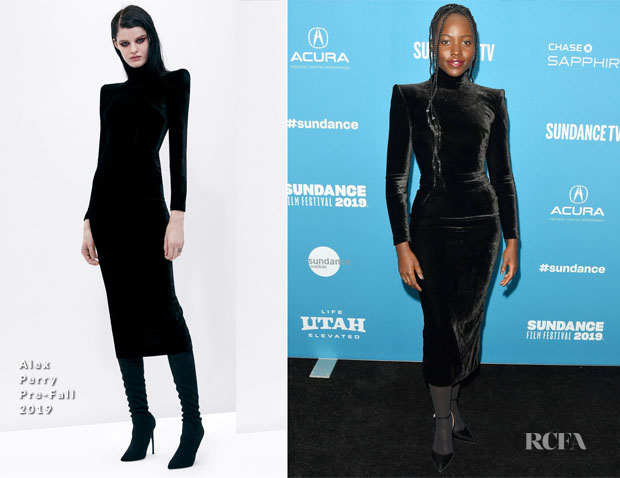 Fashion Blogger Catherine Kallon features Lupita Nyong'o In Alex Perry - 'Little Monsters' Sundance Film Festival Premiere