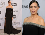 Fashion Blogger Catherine Kallon features Mandy Moore In Jason Wu - 2019 SAG Awards