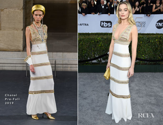 Fashion Blogger Catherine Kallon features Aja Margot Robbie In Chanel - 2019 SAG Awards