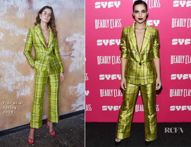 Fashion Blogger Catherine Kallon features Maria Gabriela de Faria In Flor et.al - SYFY's New Series 'Deadly Class' Premiere Screening