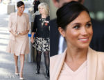 Fashion Blogger Catherine Kallon features Meghan, Duchess of Sussex In Brandon Maxwell - The National Theatre Visit