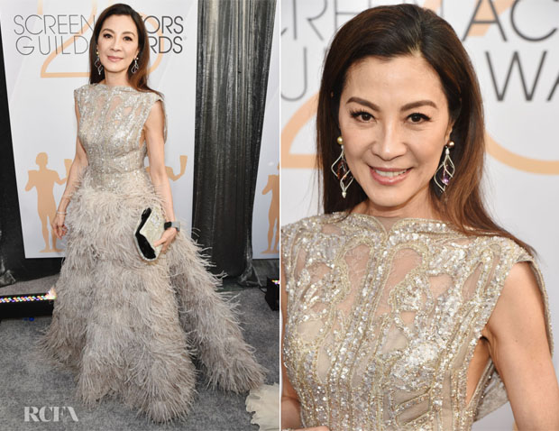 Fashion Blogger Catherine Kallon features Michelle Yeoh In Elie Saab Haute Couture - 2019 SAG Awards