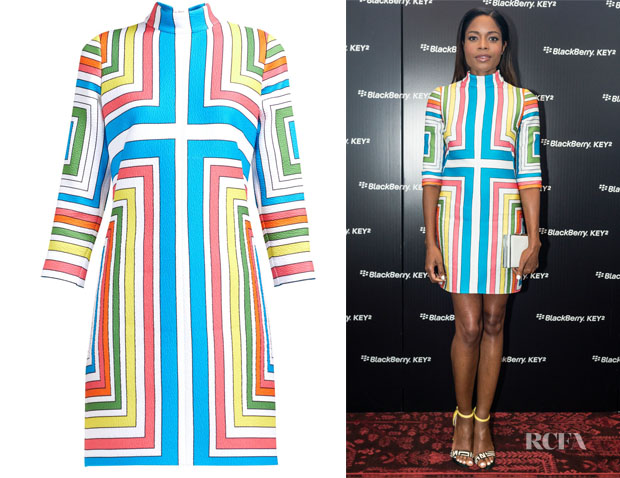Naomie Harris' Emilia Wickstead Melodie Cloqué Geometric Dress