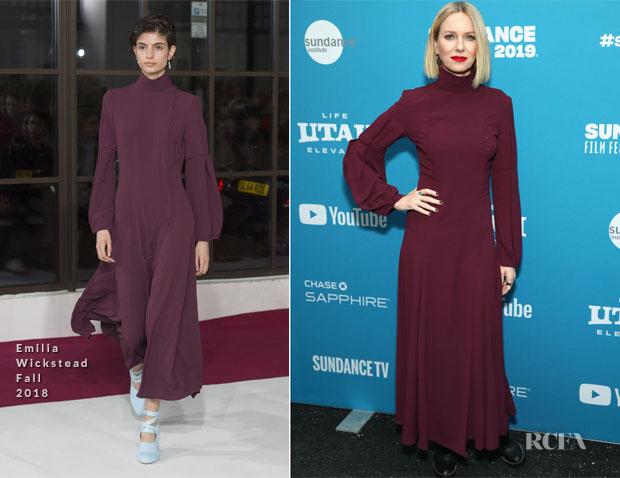 Fashion Blogger Catherine Kallon features Naomi Watts in Emilia wickstead - Sundance Film Festival