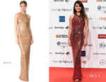 Fashion Blogger Catherine Kallon features Penelope Cruz In Galvan London - Forque Awards 2019