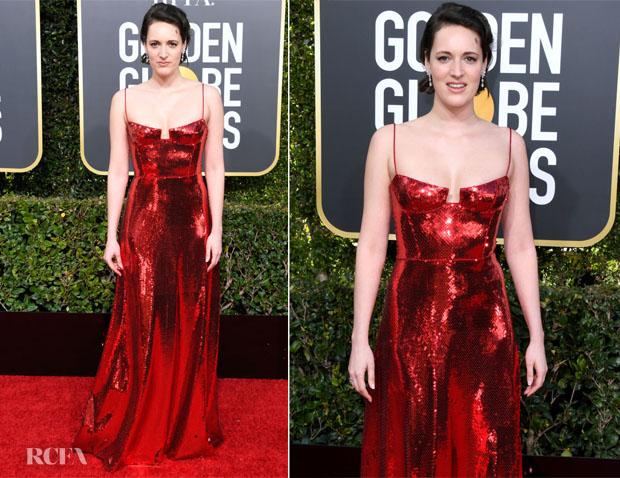 Fashion Blogger Catherine Kallon features Phoebe Waller-Bridge In Galvan - 2019 Golden Globe Awards