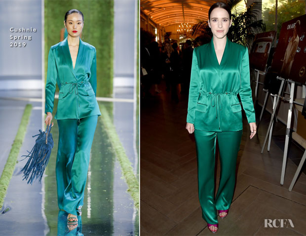 Fashion Blogger Catherine Kallon features Rachel Brosnahan In Cushnie - 2019 AFI Awards
