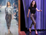 Fashion Blogger Catherine Kallon features Rachel Brosnahan In Isabel Marant - The Tonight Show Starring Jimmy Fallon