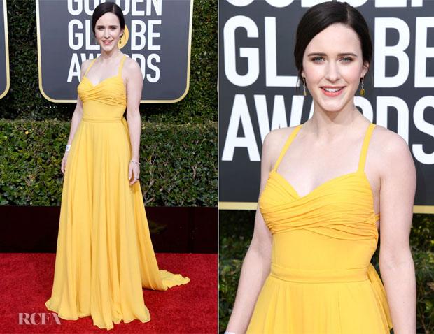 Fashion Blogger Catherine Kallon features Rachel Brosnahan In Prada - 2019 Golden Globe Awards