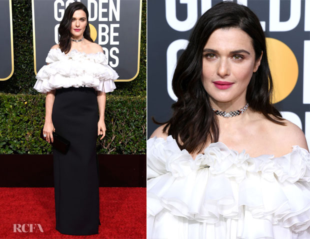 Fashion Blogger Catherine Kallon features Rachel Weisz In Celine - 2019 Golden Globe Awards