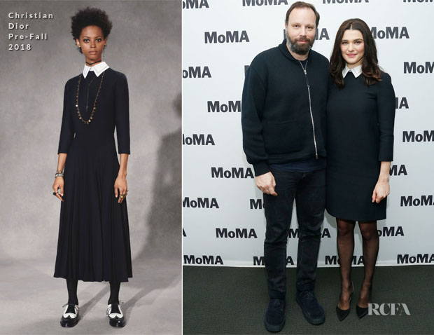 Fashion Blogger Catherine Kallon features  Rachel Weisz In Christian Dior - MoMA's Contenders Screening Of 'The Favourite'