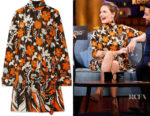 Rebecca Ferguson's Prada Floral-Print Dress