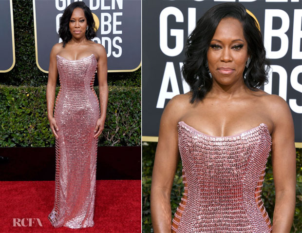 Fashion Bogger Catherine Kallon features Regina King In Alberta Ferretti Limited Edition - 2019 Golden Globes Awards