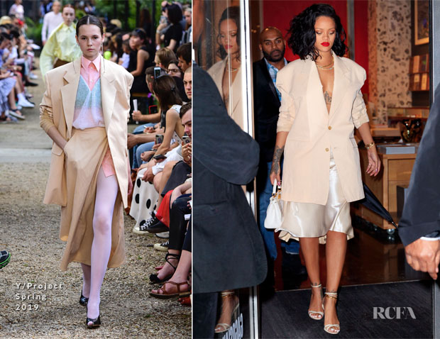 Fashion Blogger Catherine Kallon features Rihanna In Y/Project - Out In New York