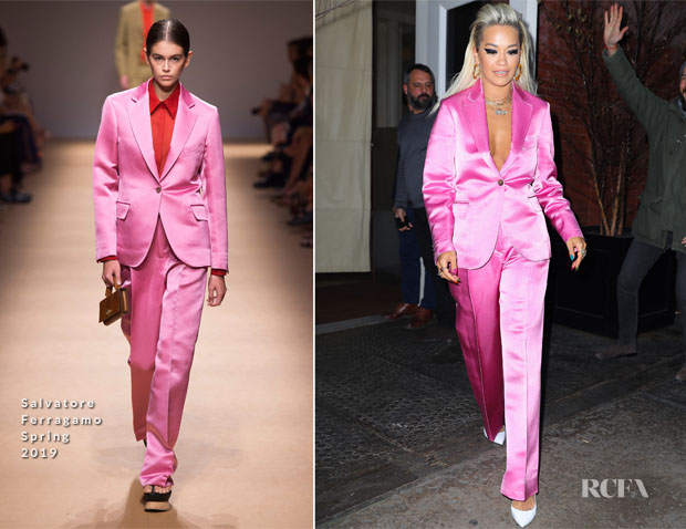 Fashion Blogger Catherine Kallon features Rita Ora In Salvatore Ferragamo - Out In New York City