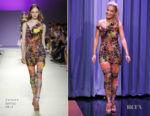 Fashion Blogger Catherine Kallon features Rita Ora In Versace - The Tonight Show Starring Jimmy Fallon