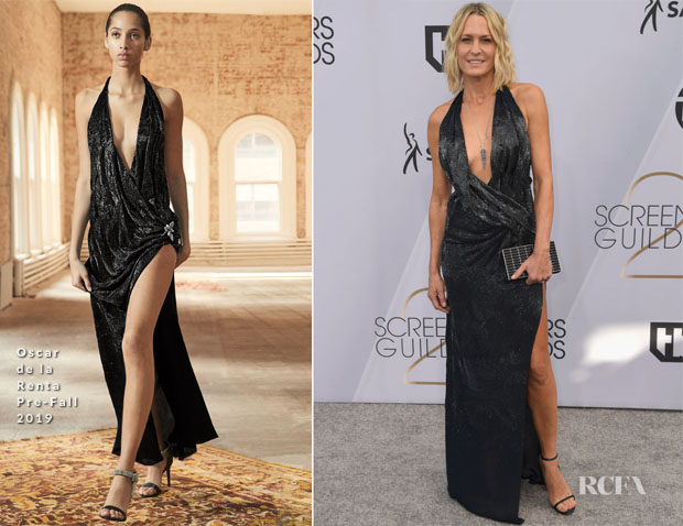 Fashion Blogger Catherine Kallon features Robin Wright In Oscar de la Renta - 2019 SAG Awards