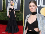 Fashion Blogger Catherine Kallon features Rosamund Pike In Givenchy Haute Couture - 2019 Golden Globe Awards