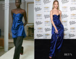 Fashion Blogger Catherine Kallon features Rosie Huntington-Whiteley In Marina Moscone - Create & Cultivate And Chevrolet Launch Event
