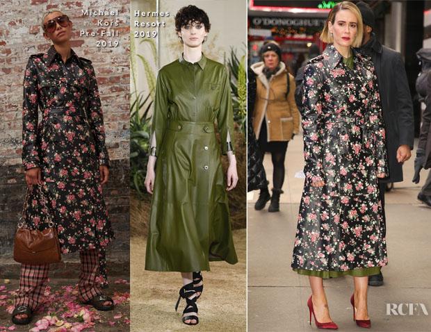 Fashion Blogger Catherine Kallon features Sarah Paulson In Michael Kors & Hermes - Good Morning America