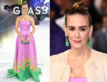Fashion Blogger Catherine Kallon features Sarah Paulson In Prada - 'Glass' London Premiere