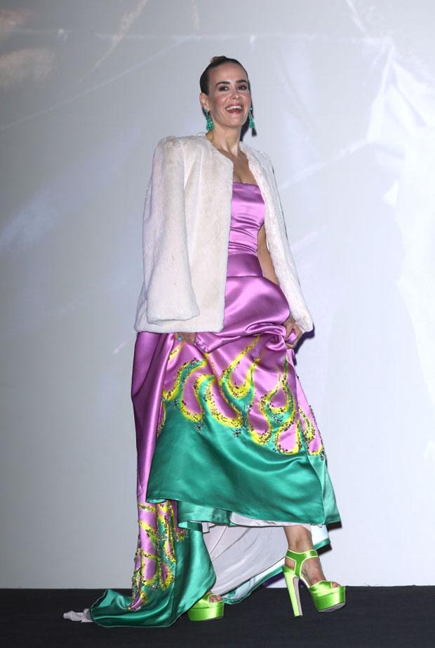 Fashion Blogger Catherine Kallon features Sarah Paulson In Prada - 'Glass' London Premiere