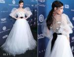 Fashion Blogger Catherine Kallon features Sofia Carson In Monique Lhuillier - Art Of Elysium 'Heaven' Gala