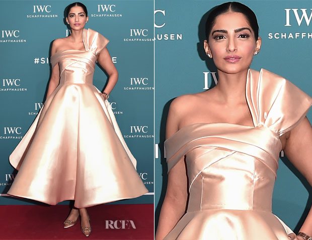 Sharper Looks Watches >> Sonam Kapoor In Calvin Klein & Mark Bumgarner - IWC Schaffhausen at SIHH 2019 - Red Carpet ...