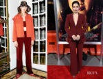 Fashion Blogger Catherine Kallon features Sophia Bush In Cinq à Sept - 'Miss Bala' LA Premiere