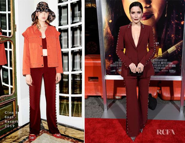 Fashion Blogger Catherine Kallon features Sophia Bush In Cinq à Sept - 'Miss Bala' LA Premiere