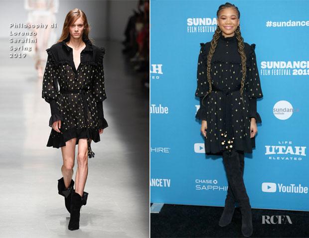 Fashion Blogger Catherine Kallon features Storm Reid In Philosophy di Lorenzo Serafini - 2019 Sundance Film Festival
