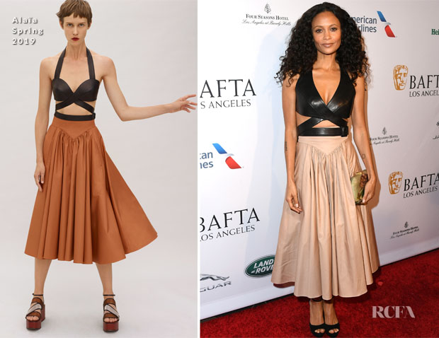 Fashion Blogger Catherine Kallon features Thandie Newton In Alaïa - AFTA Los Angeles Tea Party